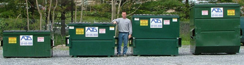 Sizes for Dumpsters for Rental in Maryland